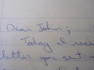 Dear John;