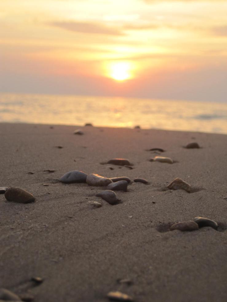 Summer Sunset on the Beach